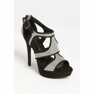 Jessica Simpson Bruno Sandal Womens Black and Silv